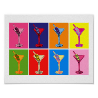 Colorful Martini Cocktails Print