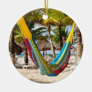 Colorful Mayan Hammock Cozumel Mexico Ornament