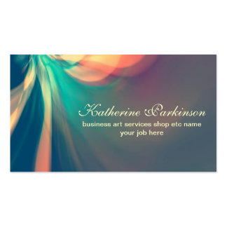 colorful modern abstract design business cards