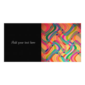 Colorful Modern Abstract Design Photo Greeting Card