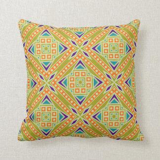 Colorful Modern Aztec Tribal Geometric Pattern Cushion