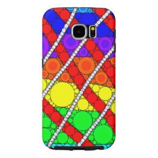 Colorful Mosaic Concentric Circles Galaxy S6 Case