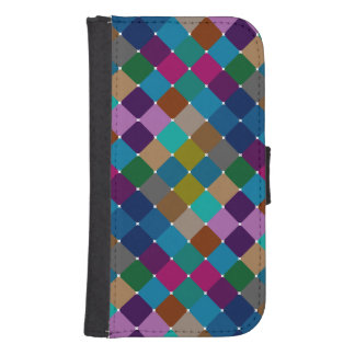 Colorful mosaic pattern iphone wallet case