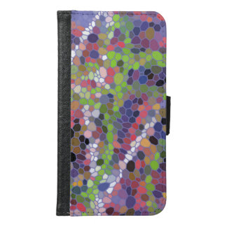 Colorful mosaic pattern samsung galaxy s6 wallet case