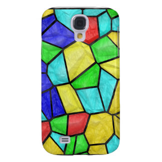 Colorful Mosaic Stained Glass Galaxy S4 Case