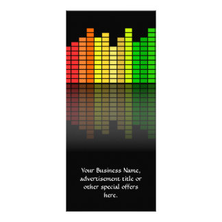 Colorful Music Equalizer w/Reflection, Cool Techno Full Colour Rack Card