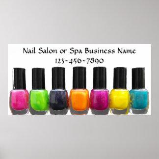 Colorful Nail Polish Bottles Nail Salon Print