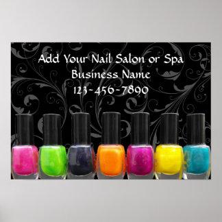 Colorful Nail Polish Bottles Nail Salon Sign Print