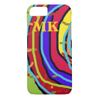 colorful new iPhone 7 with initials iPhone 7 Case