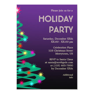 Colorful New Year's Eve/Holiday Party Invitation