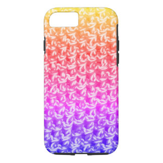 Colorful Ombre Crochet Knit iPhone 8/7 Case