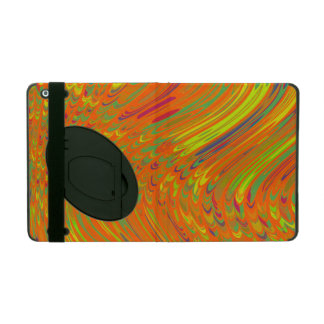 Colorful Orange Abstract Art iPad Case