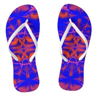 Colorful Orange Blue Design Thongs