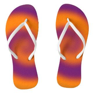 Colorful Orange Purple Design Thongs