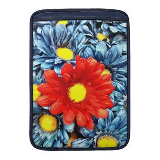 Colorful Orange Red Blue Gerber Daisies Flowers MacBook Sleeves