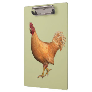 Colorful Orange Rooster Clipboard