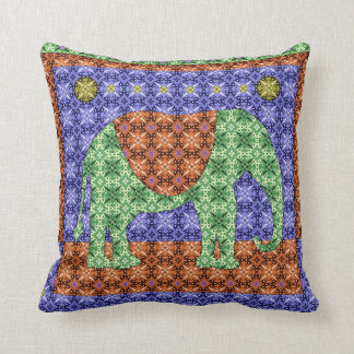 Colorful Ornate Elephant Pattern Cushion