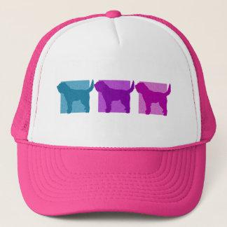 Colorful Otterhound Silhouettes Trucker Hat