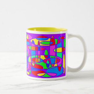 Colorful Ovals - 11 oz. Mug! Two-Tone Coffee Mug