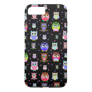Colorful Owls iPhone 7 Plus case