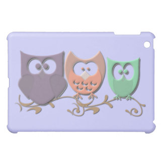 Colorful Owls on a Vine Picture iPad Mini Cover