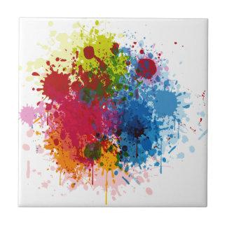 Colorful Paint Splatter Tiles