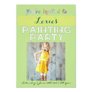 Colorful Painting Party | 5x7 Invitation Tag