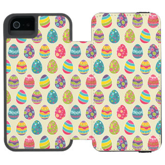 Colorful Pastel Easter Eggs Cute Pattern Incipio Watson™ iPhone 5 Wallet Case
