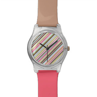 Colorful pastel stripes watch
