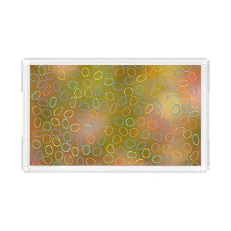 Colorful Pattern Acrylic Tray