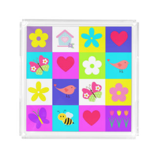 colorful pattern design small perfume tray