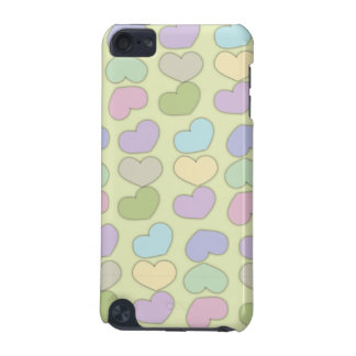 colorful pattern of hearts and green background iPod touch 5G cover
