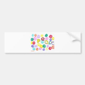 Colorful Peace Bumper Sticker