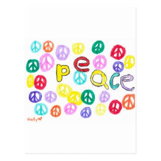 Colorful Peace Postcard