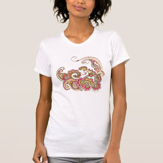 colorful peacock t-shirt (white)