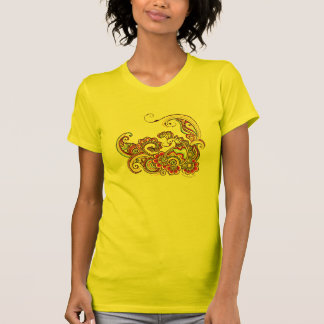 Colorful peacock t-shirt (yellow)