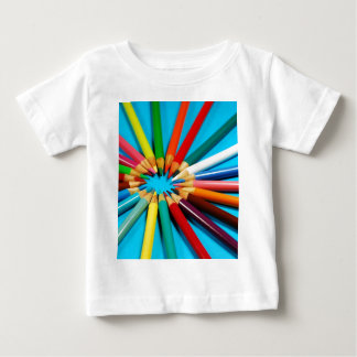 Colorful pencil crayons pattern baby T-Shirt