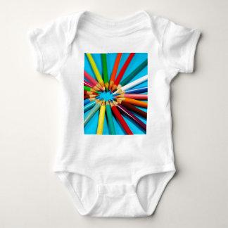 Colorful pencil crayons pattern tshirt