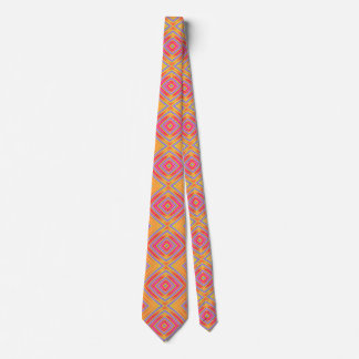 Colorful Pink And Orange Pattern Tie