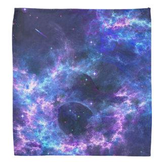 Colorful pink blue galaxy nebula pattern do-rag