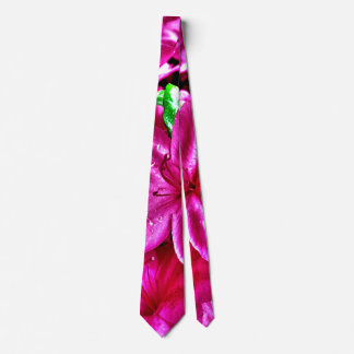 Colorful Pink Floral Azalea Tie