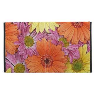 colorful pink orange yellow daisies ipad folio iPad folio cases