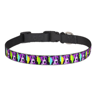 Colorful Pit Bull Graphic Dog Collar