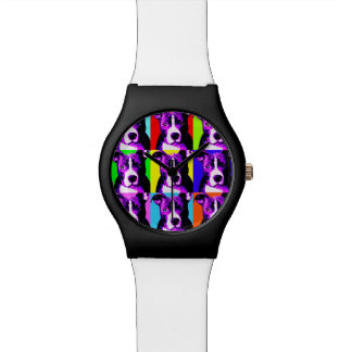 Colorful Pit Bull Stylish Watch - Great Gift
