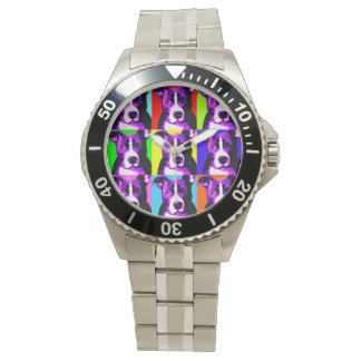 Colorful Pit Bull Watch - Stainless Steel