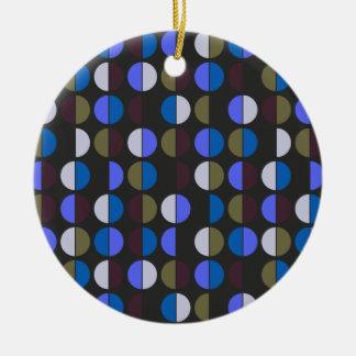 Colorful Polka Dot Seamless Pattern Christmas Ornament