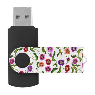 Colorful Poppy Garden Flowers USB 32GB Flash Drive