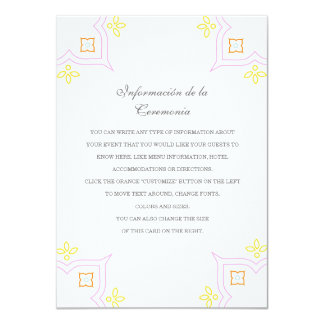 Colorful Quince Directions/Information Card 11 Cm X 16 Cm Invitation Card