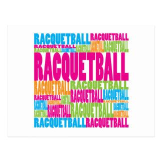 Colorful Racquetball Postcard