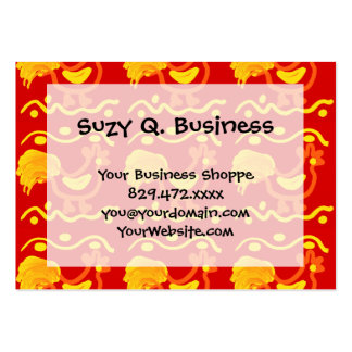 Colorful Red Yellow Orange Rooster Chicken Design Pack Of Chubby Business Cards